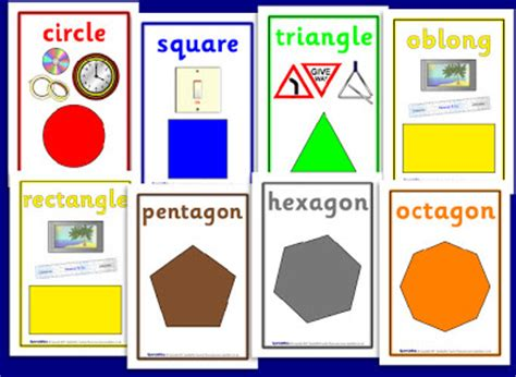 printable 2d shapes poster technology rocks seriously 2d and 3d shapes