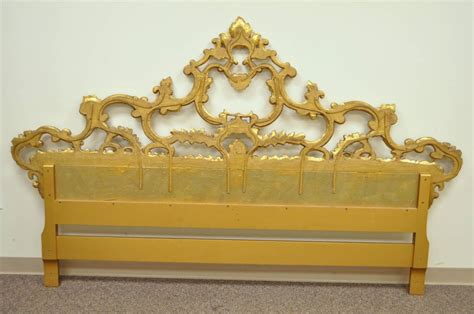 rococo headboards carved hollywood regency french rococo style giltwood king
