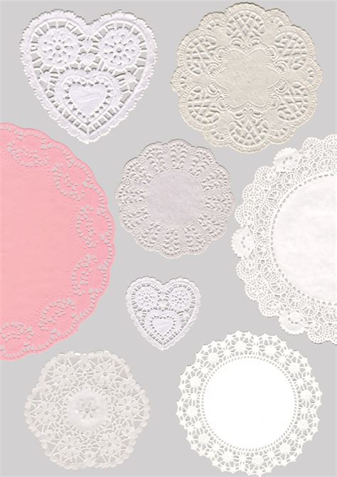 printable paper lace doilies doilies set of 8 digital collage sheet printable