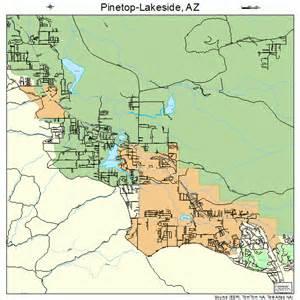 pinetop arizona map pinetop lakeside arizona map 0455980