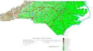 carolina contour map