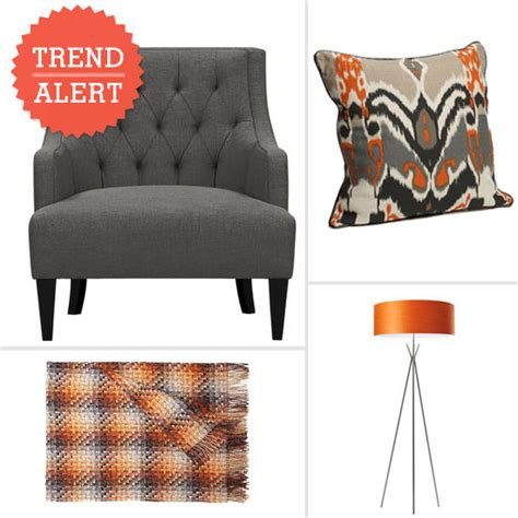 orange and gray decor popsugar home