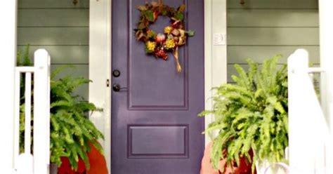 Door Colors For Sage Green House Sage Green Siding W Plum Front Door