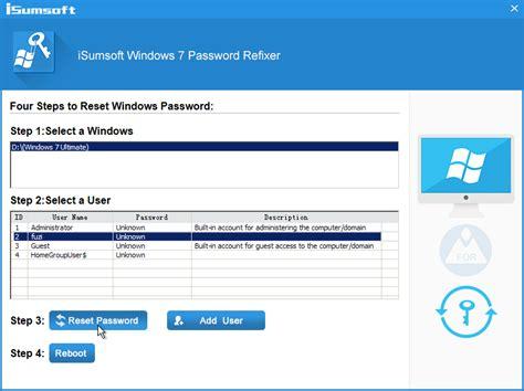 windows vista profile password reset how to fix windows 7 user login failed isumsoft