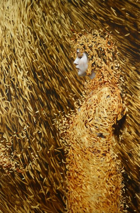 Gold Leafing Paint by Leaf Paintings By Brad Kunkle Colossal