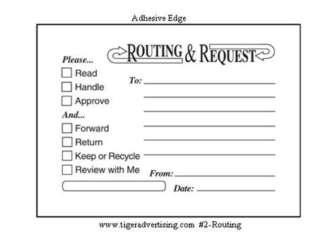office routing slip template post it 174 custom printed routing request forms office