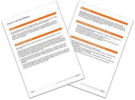 layout of feedback report standard 360 feedback report format