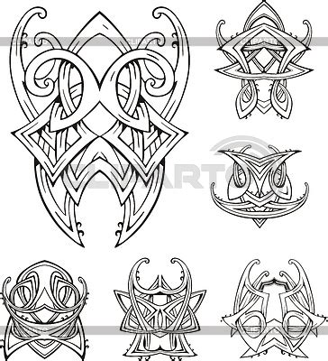 symmetrical tribal tattoos symmetric tattoos serie of high quality graphics cliparto