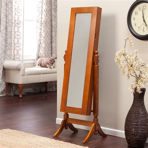 Oak Mirror Jewelry Armoire by Heritage Jewelry Armoire Cheval Mirror Oak Jewelry