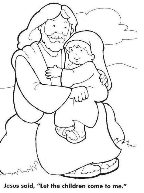 jesus coloring pages jesus the children coloring page