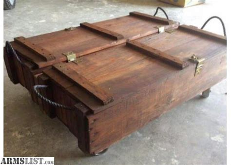 Armslist For Sale Trade 1 Of A Kind Ammo Crate Coffee Table Crate Coffee Table For Sale