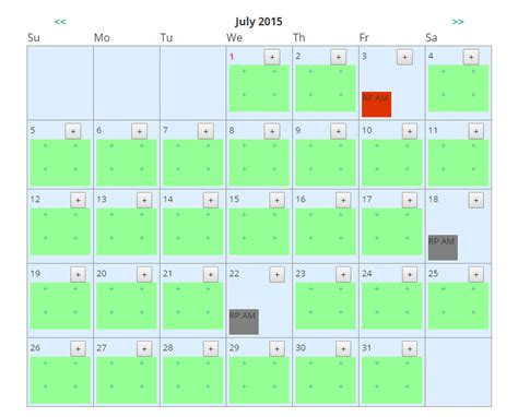 javascript codeigniter calendar how to get the selected