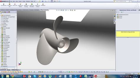 solidworks tutorial propeller tutorial how to do a flow simulation to a rotating