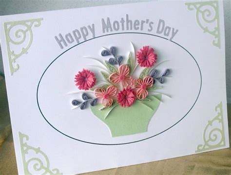 paper daisy cards quilled mother s day card quilled mother s day card with quilling flowers quilling