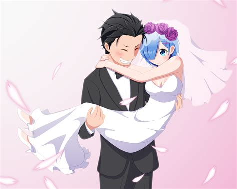 subaru and emilia married media wedding day re zero