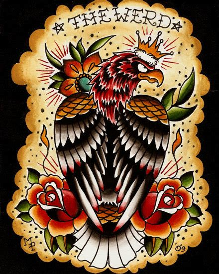eagle tattoo flash traditional eagle tattoo flash