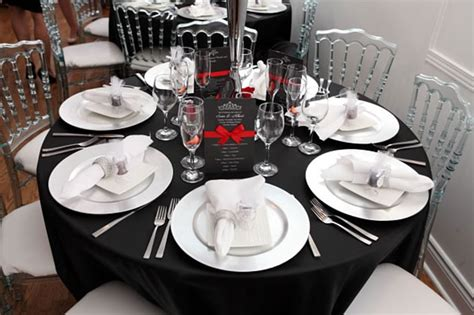 White Table Settings Black White Table Setting Wedding Toronto Wedding Chapel