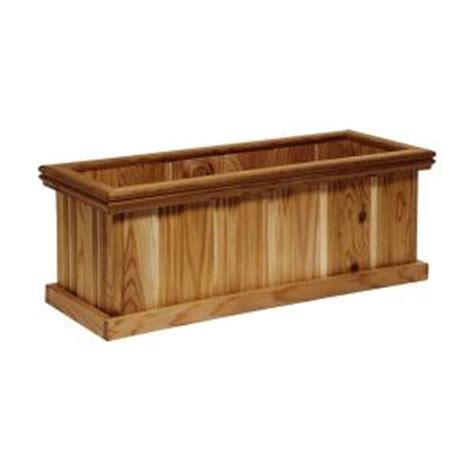 Home Depot Small Wood Box Grande 30 In X 11 In Cedar Planter Glcp 0135 The Home