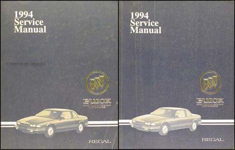 electric and cars manual 1987 buick regal free book repair manuals 1994 buick regal repair shop manual original set
