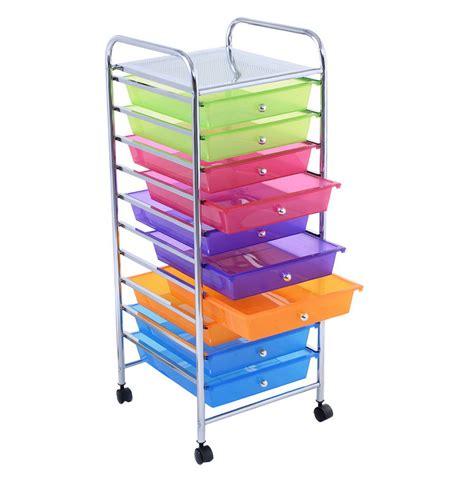 10 drawer rolling organizer home design ideas