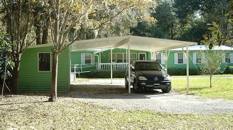 2 Car Carports For Sale by 2 Car Carport With Storage Building Gainesville Florida