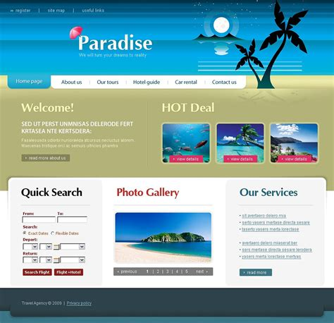 travel agency html template travel agency website template 22406
