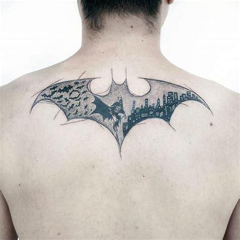 batman tattoo on neck 50 batman symbol tattoo designs for men superhero ink ideas