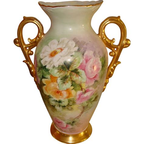 beautiful antique limoges painted large