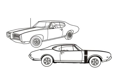 coloring page muscle cars police car coloring pages online 6 image colorings net