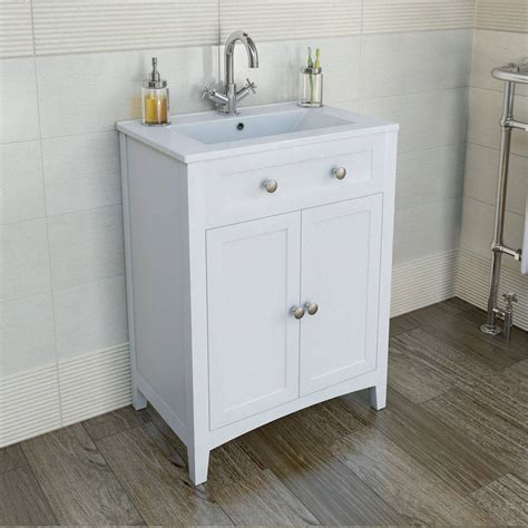 Bathroom Vanity Sink Units Camberley White 600 Door Unit Basin
