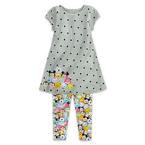 Dress Tsum Tsum 4 6 Tahun 2 disney dress and legging set for tsum tsum