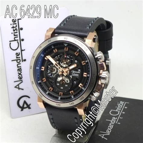 Jam Tangan Alexandre Christie 6429 Black Gold jam alexandre christie ac 6429 rgs leather original jual