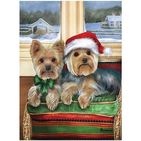 images of christmas yorkies yorkie christmas cards the danbury mint