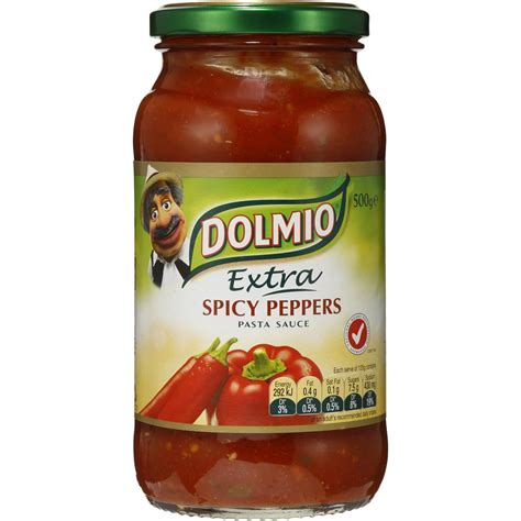 Spicy 500g dolmio pasta sauce spicy peppers 500g woolworths