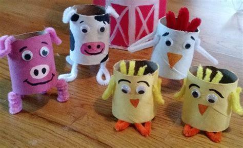 Toilet Paper Roll Crafts Animals - diy toilet paper farm animals