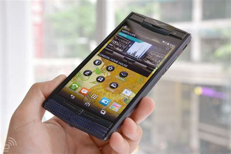 vertu phone touch screen this is what a 22 000 android phone feels like
