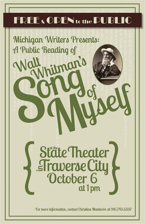 song of myself section 6 community reading of whitman s quot song of myself quot on oct 6