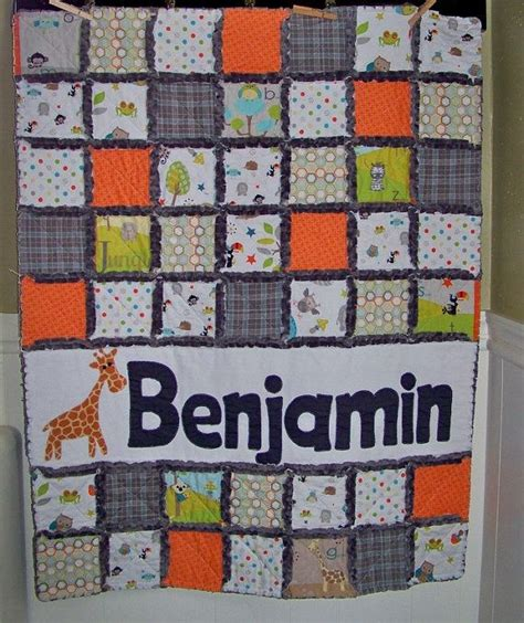 Crib Size Rag Quilt Pattern by Rag Quilt Crib Or Toddler Size Personalized With By