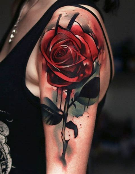tattoo rose 3d ideas flower sleeve tattoofanblog