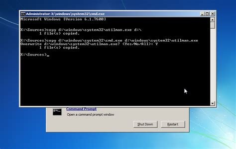 resetting windows vista password command prompt reset windows 7 passwords a field report my2cents