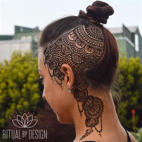 henna head tattoo henna designs chhory