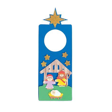 trading crafts nativity doorknob hanger craft kit trading