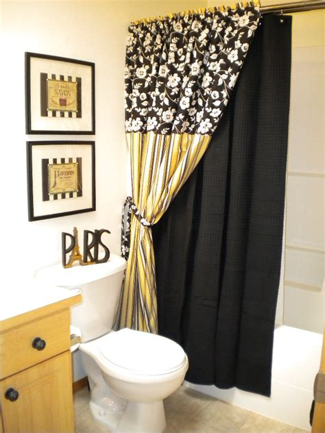 Black And Yellow Bathroom Ideas by Black And White Bathroom Tile Design Ideas Precious Home