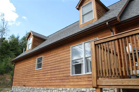 cedar house stained  defy extreme wood stain rustic