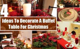 Holiday Buffet Table Decorating Ideas How To Decorate A Buffet Table For Christmas Ways To