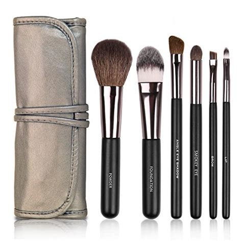 amazon com 6pcs set arts docolor 6pcs makeup brushes set goat hairs foundation