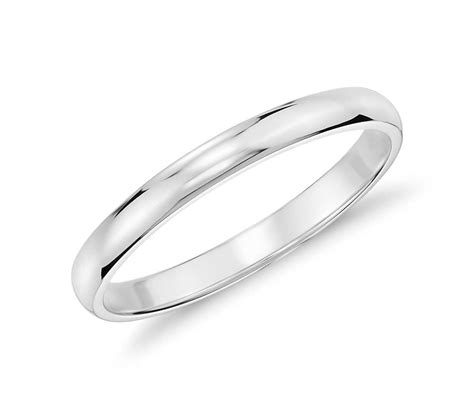 Wedding Rings White Gold by Classic Wedding Ring In 14k White Gold 2mm Blue Nile