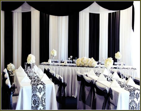Decorating Ideas In Black And White 35 Black And White Wedding Table Settings Table