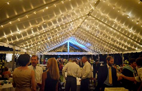 Cafe lighting in a frame tent   Goodwin Events