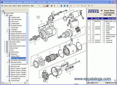 volvo penta epc ii marine industrial engine parts catalog